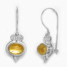 Offerings Sajen 925 Sterling Silver Gold Backed Frosted & Etched Quartz Earrings