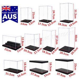 Acrylic Display Case Clear Box Dustproof Large Self-Install Cars Trucks 40cmH AU
