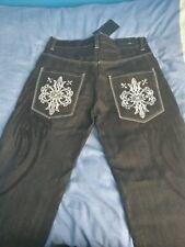 🚩🚨 Raw Blue Jeans Black Men's W32 L30 High Quality Design!