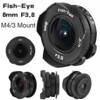 8mm F3.8 APS Frame Fish Eye Wide Angle Lens for Olympus/ M4/3 Camera CO