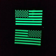 REFLECT LEFT IR USA FLAG GLOW IN DARK USA AMERICAN FLAG REVERSE LEFT RIGHT PATCH