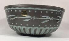 "Rogild Pottery 9"" Bowl Planter Danish Grey Mint Green"