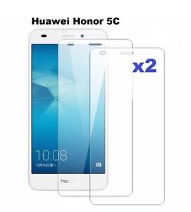 2 x TEMPERED GLASS ANTI SCRATCH SCREEN PROTECTOR FOR HUAWEI HONOR 5C