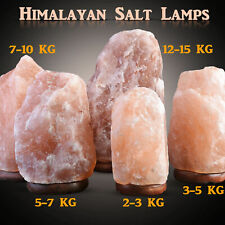 Natural Himalayan Rock Salt Lamp On WoodenBase(Plug &Bulb Included)Lighting Lamp