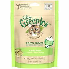 Feline Greenies Dental Treats 2.5 oz Catnip | Vet Recommended For Cats