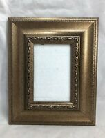 """Picture Photo Frame Rectangle Flecked Gold 4"""" x 6"""" picture Desk Wall"""