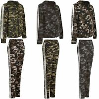 Ladies Women Camouflage Hooded Zip Top or Jogging Trousers Bottoms Pants S-XXL