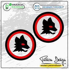 Adesivo Stickers Lupetto AS Roma Calcio Italia sport Ser.A Casco Auto Moto Targa