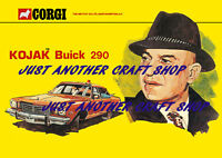 Corgi Toys 290 Kojak Buick Police Car A4 Poster Advert Leaflet Shop Sign 1976