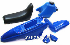 Plastic Body Shell Seat Tank Kit Yamaha Y-Zinger PW50 PW 50 Blue