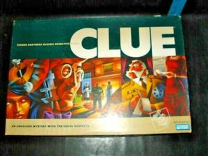 CLUE Mystery Detective Board Game 2002 Edition Parker Brothers Hasbro Complete