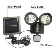 22 LED Solar Power PIR Motion Sensor Security Light Outdoor Waterproof Spot Lamp