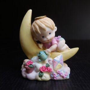 Statue figurine enfant clair lune vintage art déco maison collection N7643