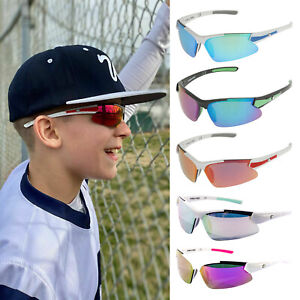 Rawlings Youth Sunglasses Boy's and Girl's RY107 Baseball Softball Sport Shield