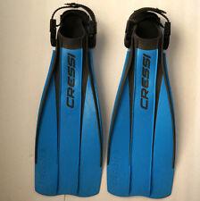 CRESSI FROG Scuba Snorkel Diving Flippers S-M Small-Medium Adjustable Fins ITALY