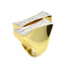 Ring 18K Yellow Gold 0.89 CT Diamond Accents Size 4 Men's
