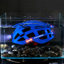 RockBros Road Bike Night Riding Ultralight USB Recharge Size 57-62CM Blue Helmet
