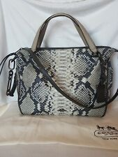 COACH Python Leather Medium Size Satchel Tote crossbody Shoulder Bag New No Tag