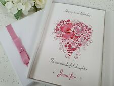 Luxury Personalised Birthday Card Daughter Granddaughter 21st 16th 18th 20th 30