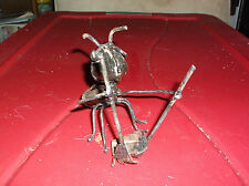 Rock Ant Yard Art Decorations With A Broom And Dust Pan