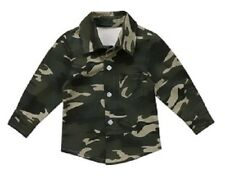 Baby Boy Kids Childs Camo Military Army Casual Collared Shirt 6-12m 1 2 3 4 5y