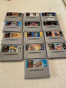 JOB LOT OF SUPER NINTENDO SNES GAMES UNTESTED AS ACQUIRED SEE PICS