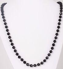 Necklace Costume 4629B Fashion Black Beaded Strand