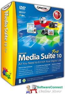 CYBERLINK MEDIA SUITE 10 PRO GENUINE GUARANTEE includes PowerDVD, PowerDirector