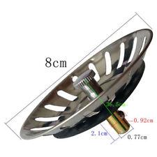 Stainless Steel Kitchen Sink Strainer Waste Plug Filter Drain Stopper Basket