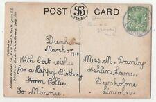 Dunholme Lincoln 1916 Rubber Handstamp Postmark 161c