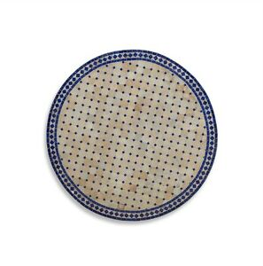 """Blue and White Tile Table Top 42"""" x 2"""" 584016-dni"""