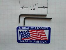 """TWO .050"""" Hex Keys / ALLOY STEEL -  SHORT  Arm Allen Wrenches - INCH/SAE  USA"""