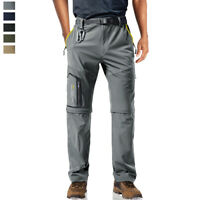 Men's Quick Drying 5 Zip Pockets Hiking Pants Outdoor Mountain Climbing Trousers