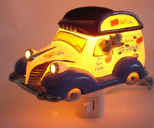 Henry Cavanagh Dads Ice Cream Panel Truck Car 3D Ceramic Night Light Schnauzer