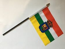 "LA RIOJA SPAIN SPANISH SMALL HAND WAVING FLAG 6""X4"" flags EUROPE ESPANOL"