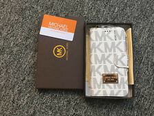 Michael Kors Monogramed leather flip wallet/case For iPhone 6 4.7'' Beige