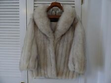 Vintage DAVISON'S Real Shadow Fox Fur Coat Size Small: Needs Cleaning