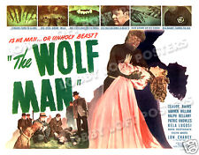 THE WOLF MAN LOBBY CARD POSTER HS 1948-R LON CHANEY EVELYN ANKERS CLAUDE RAINS