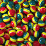 50 x Plastic round beads Rasta stripe 8mm x 7mm Jewellery making Kids Craft A3