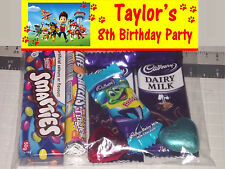 12 Personalised Birthday Party Loot Lolly Bags with Paw Patrol Print