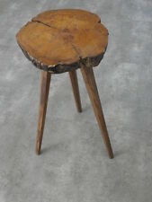 Tree Trunk Stool folk wood antique old campaign wooden country side Farmer