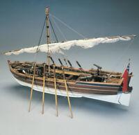 Mantua Models Armed Pinnace Lancia Armata 1800 1:16 scale Model Boat Kit