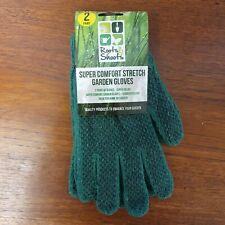 2 Pairs of High Quality Green Rubber Gardening Gloves Garden Easy Grip Unisex