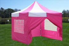 10'x10' Pop Up Canopy Party Tent - Pink White - F Model Upgraded Frame