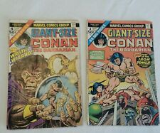 Giant Size Conan Set 2 (#3 & #4) Marvel Comics June 1975