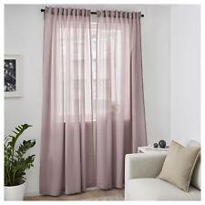 IKEA Sheer Curtains Bedroom Living Room Window Blinds 2 Panels 250x145cm Pink