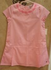 NWT $78, Toddler Girls Juicy Couture Cotton Dress Pink Embroidered Neck Sz 5/5T