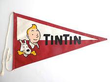 RARE ancien fanion du chèque Tintin ETAT NEUF