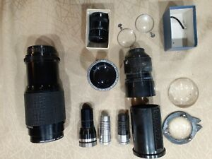 Lot of assorted lens camera telescope vivitar filters. Viewlex bell howell