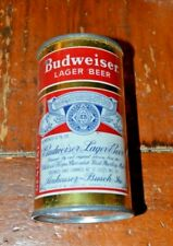 Budweiser 2 Panel Flat Top Beer Can Nice Looking can
